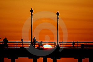 Huntington Beach Pier Stock Image - Image: 13715291