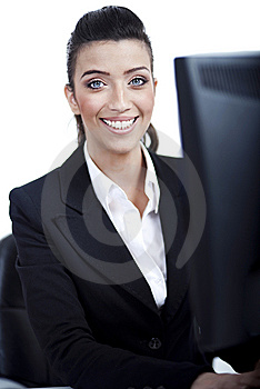 Closeup Of Young Business Woman Stock Images - Image: 13715454