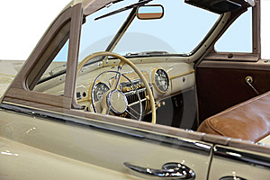 Beige Cabriolet Royalty Free Stock Photography - Image: 13716417