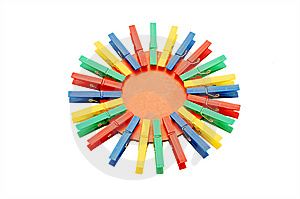 New Colour Clothespins Stock Photo - Image: 13719830