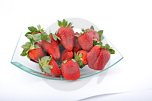 Strawberries In Glass Bowl Royalty Free Stock Image - Image: 13721826