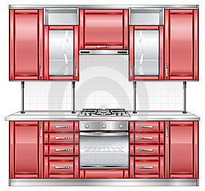Red Kitchen Royalty Free Stock Photos - Image: 13722298