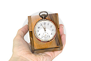 Old Silver Clock Royalty Free Stock Photography - Image: 13723267