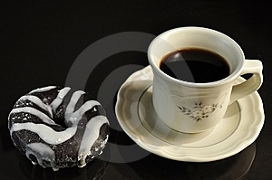 Coffee And Donut Stock Images - Image: 13723444