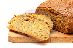 Bread On A Wooden Board Royalty Free Stock Images - Image: 13724189