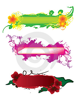 Set Of Hand-drawn Banners Royalty Free Stock Photography - Image: 13724247