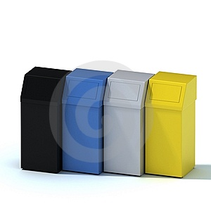Garbage Can Stock Photography - Image: 13724772