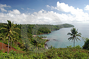 Hills Overlooking A Sea Cove Stock Photography - Image: 13726632