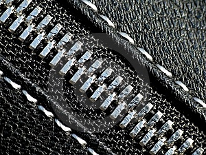 Silver Zipper Royalty Free Stock Images - Image: 13728139