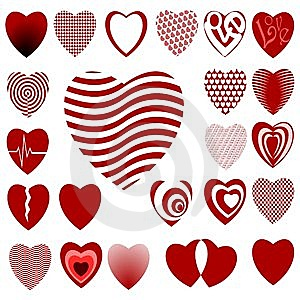 Lots Of Heart Designs Set 02 Stock Photos - Image: 13729343