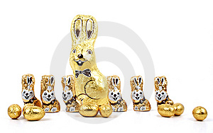 Easter Chocolate Rabbitt - Bunny Royalty Free Stock Photo - Image: 13729825