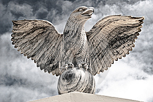 Victorious Eagle Of Marble Royalty Free Stock Photography - Image: 13732177