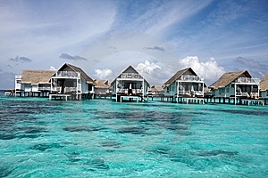 Water Villas Stock Image - Image: 13733071