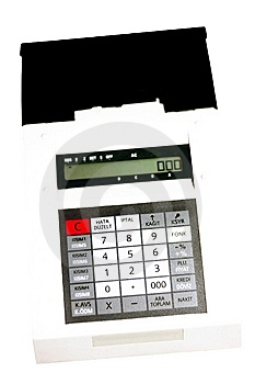POS Machine Royalty Free Stock Photography - Image: 13734867