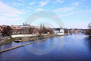 The Panoramic View On Spring Prague Stock Photos - Image: 13738633