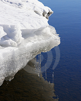Icicles Over Water Stock Photography - Image: 13739672