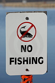 No Fishing Allowed Sign Royalty Free Stock Photos - Image: 13741048