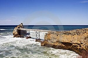 Rocher De La Vierge Biarritz Stock Photos - Image: 13741993