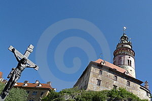 Cross Of Jesus And Church Stock Images - Image: 13743234