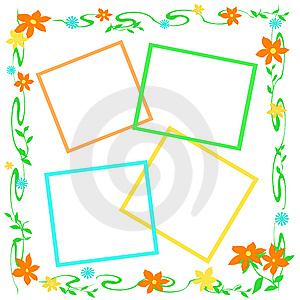 Flowery Frame Stock Images - Image: 13743464