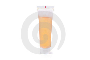 Orange Tube With Cream On White Stock Photography - Image: 13745732