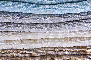 Neutral Colored Bath Towels Royalty Free Stock Photo - Image: 13747125