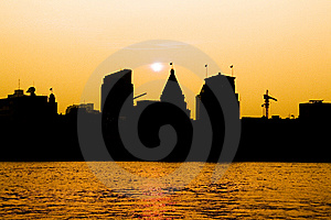 The Bund In Sunset Stock Photos - Image: 13748083
