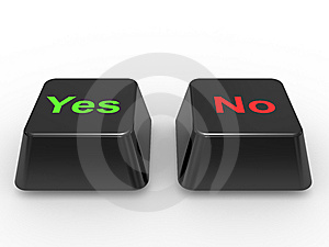 Symbol Yes And No Stock Photos - Image: 13748733