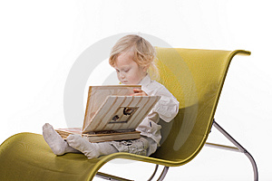 Little Boy With Book Stock Photos - Image: 13750003