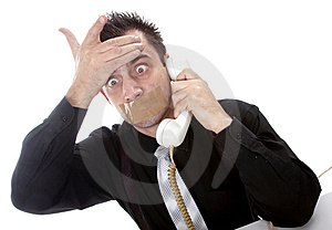 Funny Businessman With Tape On His Mouth Royalty Free Stock Photos - Image: 13750648