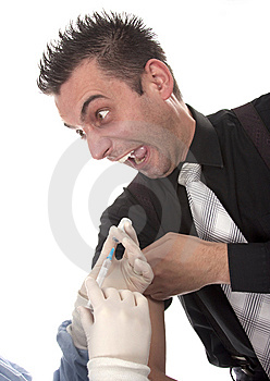 Young Man Scared Of Injections Royalty Free Stock Image - Image: 13750696