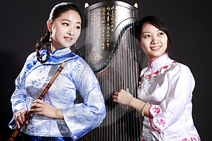 Two Young Musicians Royalty Free Stock Photography - Image: 13753107
