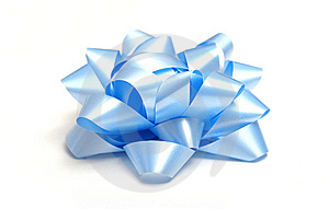 Blue Bow Stock Photography - Image: 13753872