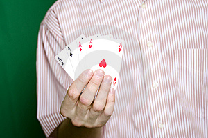 Winning Hand Royalty Free Stock Photos - Image: 13754928