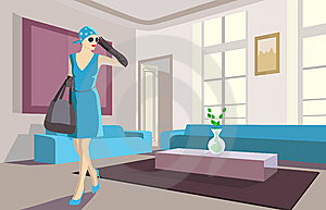 Young Woman In An Apartment Stock Photos - Image: 13754933