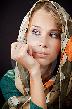 Sad Sensual Melancholic Woman With Vail On Head Stock Photography - Image: 13755212