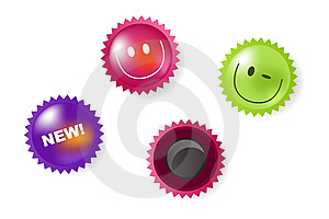 Smiling And News Icons Of Magnets. Vector Stock Image - Image: 13756271