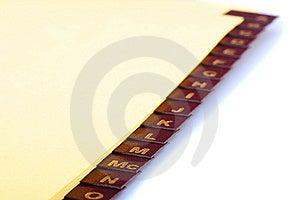 Alphabetic Catalogue Stock Photo - Image: 13756370