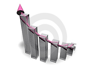 Business Chart With Arrow Stock Photography - Image: 13757362