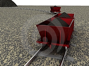 Trolley With Coal Stock Photography - Image: 13758112