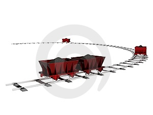 Trolley With Coal Stock Photos - Image: 13758113