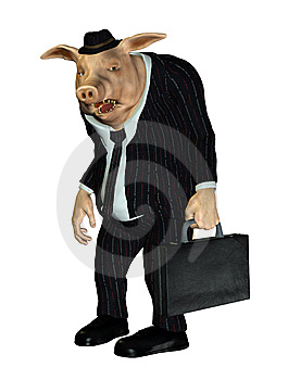 Fantasy Pig Gentleman Royalty Free Stock Photos - Image: 13758388