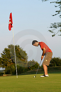 Golfer One Stock Images - Image: 13759504