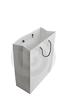 White Paper Bag Royalty Free Stock Photography - Image: 13759547