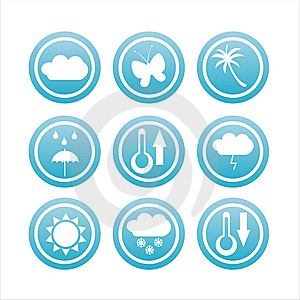 Set Of 9 Nature Signs Stock Images - Image: 13759644