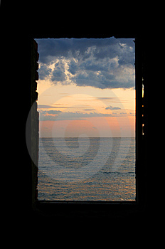 Window At The Sea Stock Photos - Image: 13760723