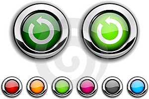Refresh Button. Royalty Free Stock Photography - Image: 13761457