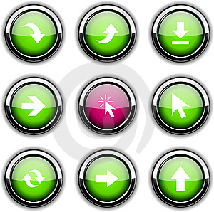 Arrows Icons. Stock Image - Image: 13761461