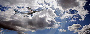 Flying Plane Royalty Free Stock Photo - Image: 13761815