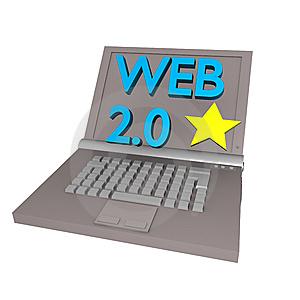 WEB 2.0 Laptop Stock Image - Image: 13762401